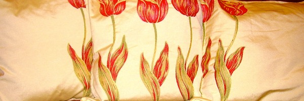 three tulip cushions